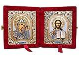 Russian Orthodox Icon Diptych Virgin Mary of Kazan