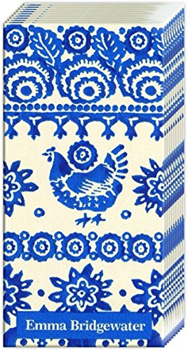IHR Paper Pocket Handbag Tissues - Emma Bridgewater Traditional Blue Hen