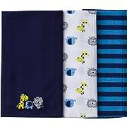 Gerber Baby Boys' 3 Pack Knit Burp Cloth, Safari, One Size