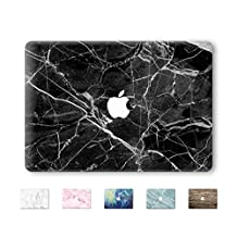 "DowBier MacBook Decal Vinyl Skin Sticker Cover Anti-Scratch High-Resolution Decal for Apple MacBook (MacBook Pro 13""/inch Retina(A1425,A1502), Black Marble)"