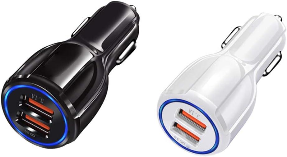 PRENKIN Tragbare 3.1A Doppel-USB-Auto-Ladeger/ät f/ür Zigarettenanz/ünder GPS-Handy MP3-PDA Bluetooth Headset Ladeger/ät
