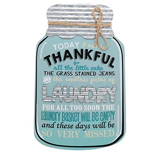 - Barnyard Designs Rustic Today I Will Be Thankful Mason Jar Decorative Wood and Metal Wall Sign Vintage Country Decor 14