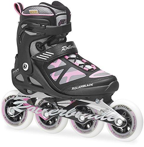 Rollerblade Inlineskate Fitness Recreational Macroblade 90 W - Patines en línea negro / rosa
