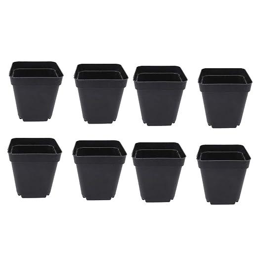 Vasi Neri In Plastica.Yardwe 50 Pezzi Vaso Da Fiori In Plastica Per Piante