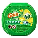 Gain Flings Laundry Detergent Pacs, Original Scent, 57 Count