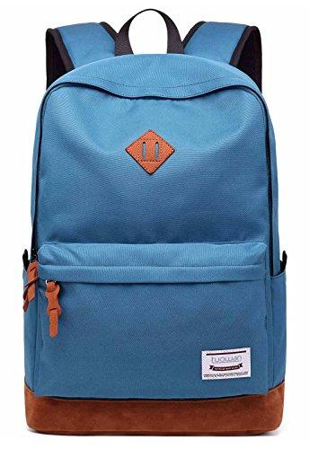 (School College Backpack Bookbag 15.6 inch Laptop Travel Bag with USB Charging Port(sky blue))