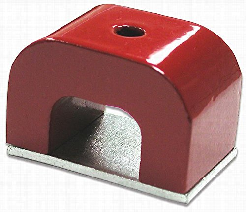 MASTER MAGNETICS #07271 4OZ RED Horsesh Magnet by Master Magnetics