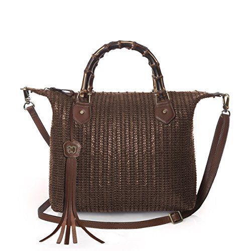 Eric Javits Luxury Fashion Designer Women's Handbag - Hilsey - Caper by Eric Javits