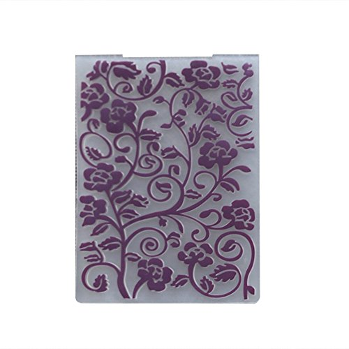Die Folder (DIY Cutting Dies Template Stencil ,Patgoal Plastic Embossing Folder for Scrapbook Paper Crafting Note)