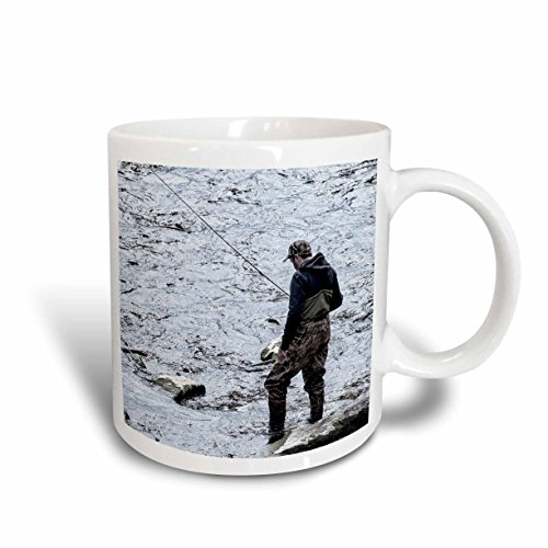 3dRose 113748_1 man fly fishing Ceramic Mug 11 oz White