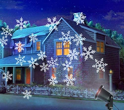 Luces navideñas Luces navideñas al aire libre en el proyector LED ...
