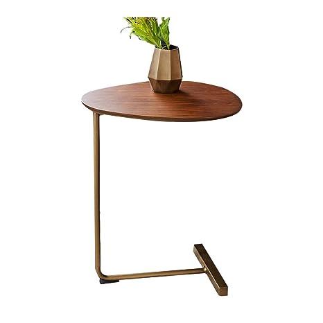 Amazon.com: Mesa auxiliar de hierro forjado, mesa esquinera ...