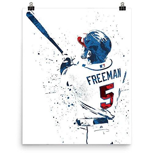Atlanta Braves Pillow - Freddie Freeman Atlanta Braves Poster