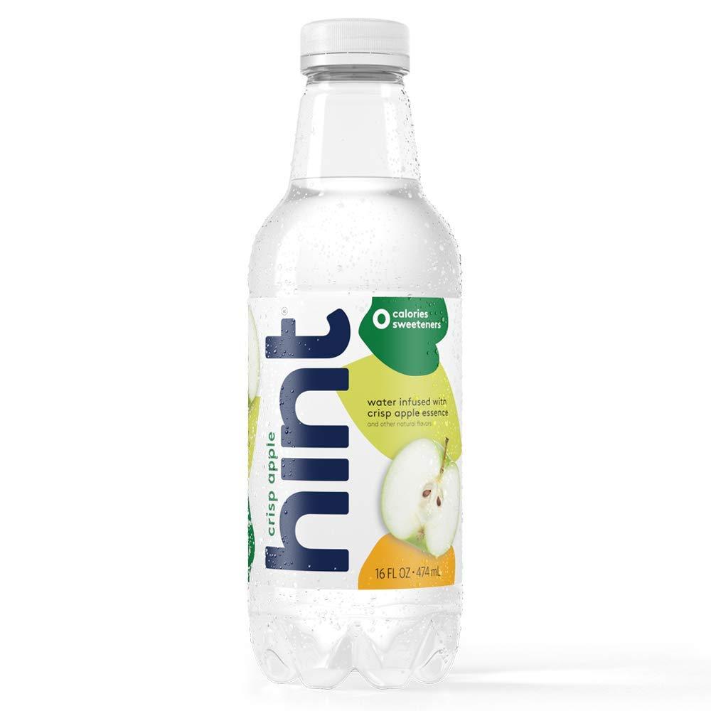 Hint Water Crisp Apple, (Pack of 12) 16 Ounce Bottles, Pure Water Infused with Crisp Apple, Zero Sugar, Zero Calories, Zero Sweeteners, Zero Preservatives, Zero Artificial Flavors by Hint