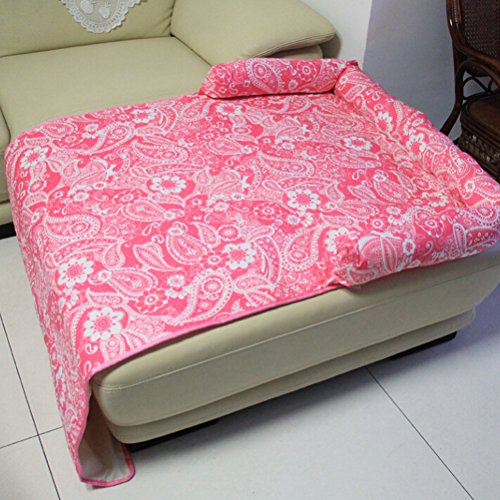 Pet Couch Bed Cushion Sofa Chair Cover Blanket Reversible Couch Furniture Protector Soft Cozy Comfortable Dog Puppy Cat Mat House Flower Print 51zrnEXNURL