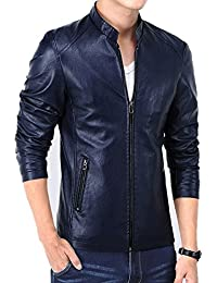 Men's Vintage Stand Collar Leather Jacket