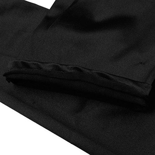 精神ゆり有名人ノーブランド品 女性 シルク生地 オペラ 夜のパーティー 結婚式 ステージショー 長い 手袋 アクセサリー 2色選べる - ブラック