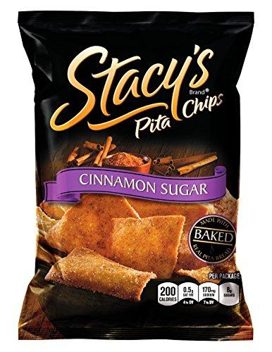 Croustilles de Pita de Stacy, sucre cannelle, sacs 1,5 once (Pack de 24)