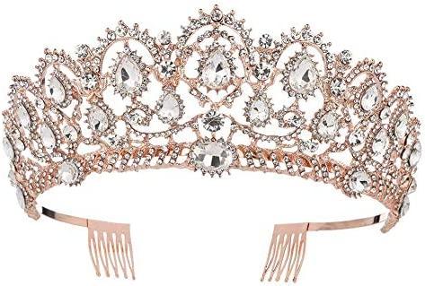 Amazon.com: KMVEXO - Tiara de princesa con corona de cristal ...