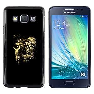 TECHCASE**Cubierta de la caja de protección la piel dura para el ** Samsung Galaxy A3 SM-A300 ** Werewolf Totem Animal Indian Man Native