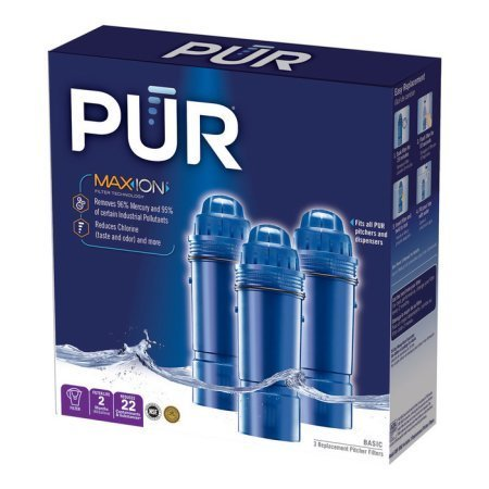 PUR Water Filters Provide Up to 120 Gallons of Clean Water CRF-950Z-3 | Fits Any Pitcher Replacement or Dispensers (PACK OF 3) by PUR