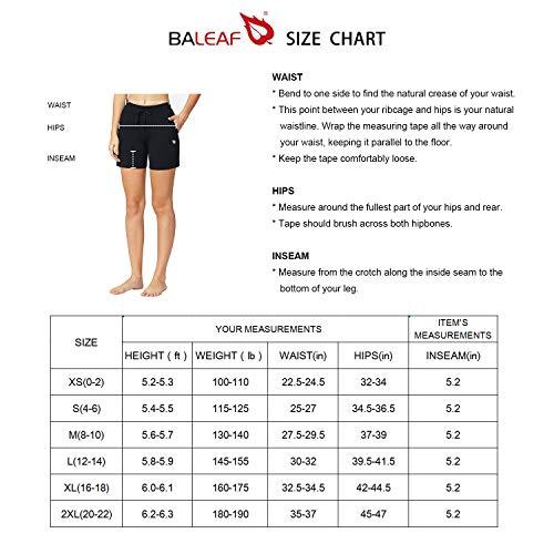 Baleaf Women's 5 Activewear Yoga Lounge Shorts with Pockets Black Size L