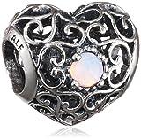 Pandora 791784nop October Signature Heart Pink Opal Charm
