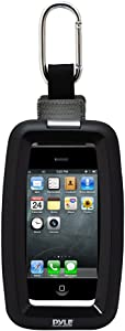 Ultimate Sport Universal Waterproof Case - Protective Water-Resistant Pouch with Carabiner Clip & Holding Strap for iPhone 4, 4s, iPod Touch, Android, MP3 Player & Other Portable Devices - Pyle PCIC45