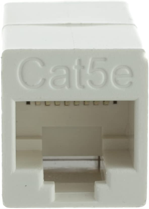 RJ45 Female White Konnekta Cable Cat5e Crossover Coupler Pack of 5 Unshielded