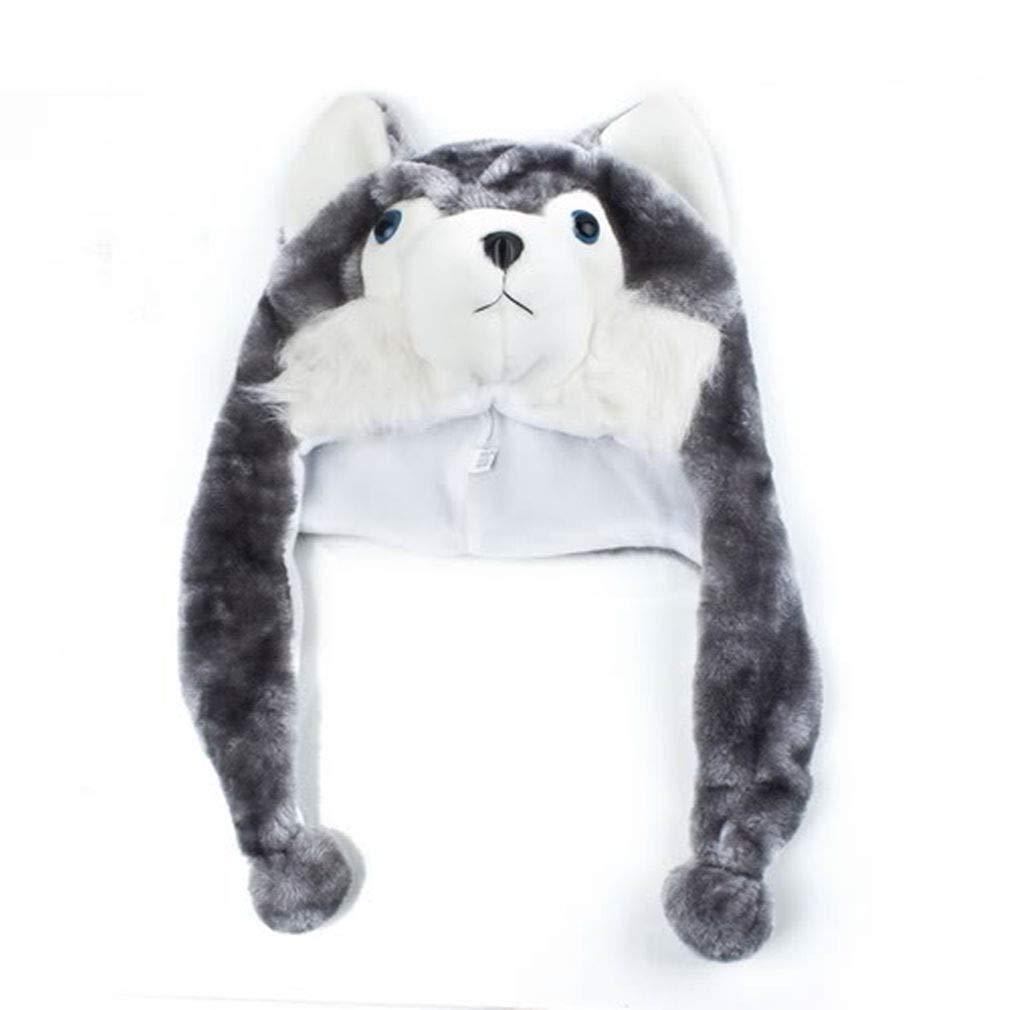 94d0abbcc Happy Bargains Ltd Cartoon Animal Shaped Children Adults Winter Warm Soft  Plush Hood Earmuff Scarf Hat Cap Dress Up for Kids Boys Girls by TheBigThumb