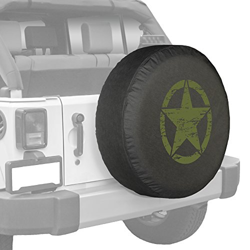 Green Star Oscar Mike Jeep Spare Tire Cover