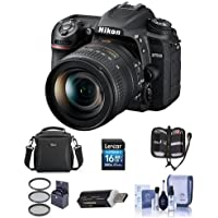 Nikon D7500 DSLR with AF-S DX NIKKOR 16-80mm f/2.8-4E ED VR Lens - Bundle With 16GB SDHC Card, Camera Bag, Cleaning Kit, Card reader, 72mm Filter Kit, Software Package