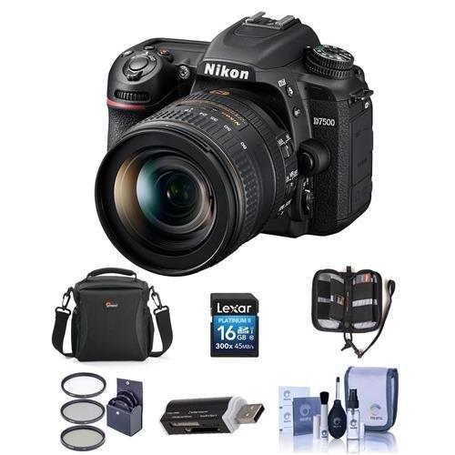Cheap Nikon D7500 DSLR with AF-S DX NIKKOR 16-80mm f/2.8-4E ED VR Lens – Bundle with 16GB SDHC Card, Camera Bag, Cleaning Kit, Card Reader, 72mm Filter Kit,