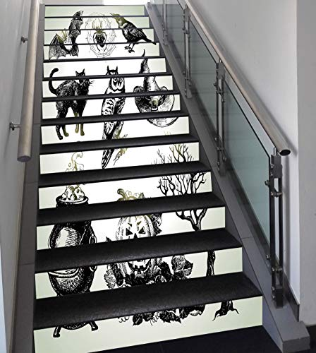 Stair Stickers Wall Stickers,13 PCS Self-Adhesive,Vintage Halloween,Halloween Related