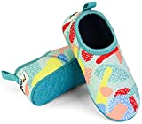 Minnow Designs Kids Water Shoes Cute Comfortable Snug Fit Beach Aqua Socks with Non Slip Hard Sole for Junior Boys and Girls - 9, Sprinkles