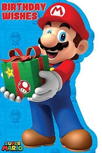 Amazoncom Super Mario Birthday Card Office Products