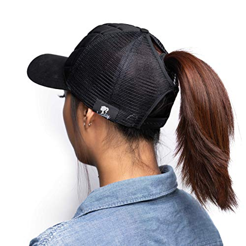 LoveLife Quilted Ponytail Baseball Hats (Black) by LoveLife (Image #2)