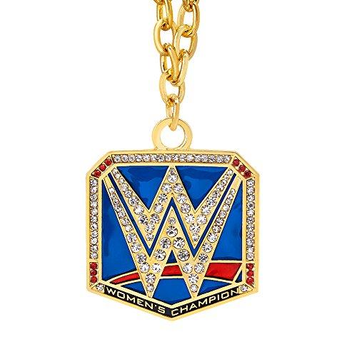 WWE Smackdown Women's Championship Pendant Gold/Red (Wwe Pendant)
