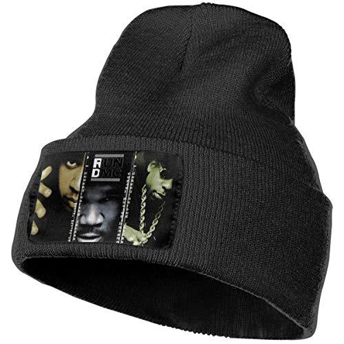 The Essential Run DMC Man's Winter Beanie Hat Scarf Set Warm Knit Hat Thick Knit Skull Cap ()