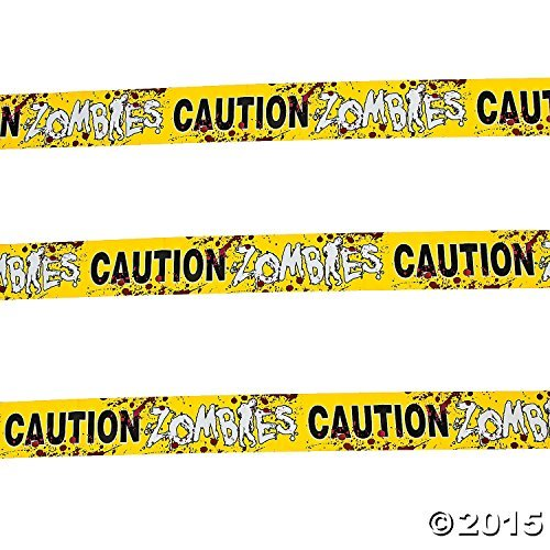 Fun Express 1 Caution Zombies Party Tape Roll, 20' -