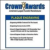 Crown Awards Corporate Appreciation Plaques - 5 x 7 Appreciation Award Gold Etched Recognition Trophy Plaque Award Prime
