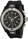 Technomarine Men's UF6 Stainless Steel Quartz Watch with Silicone Strap, Black, 0.95 (Model: TM-616003