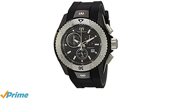 Amazon.com: Technomarine Mens UF6 Stainless Steel Quartz Watch with Silicone Strap, Black, 0.95 (Model: TM-616003: Watches