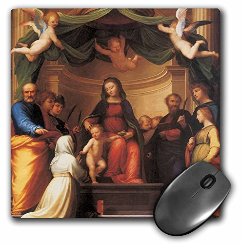 3dRose BLN Italian Renaissance Fine Art Collection - The Mystical Marriage of Saint Catherine by Fra Bartolomeo - MousePad (mp_127031_1)