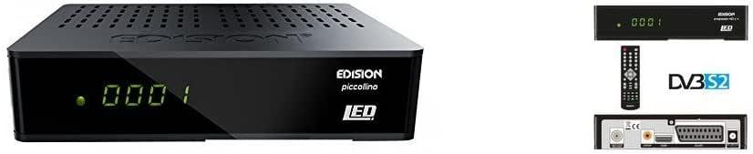 Edision Piccollino - Receptor de satélite LED Full HD + Edision Progressiv HDC + Nano Plus LED Full HD Receptor de satélite (HDMI, SCART, USB 2.0, Wifi): Amazon.es: Electrónica