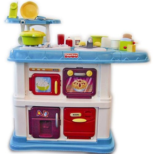 Buy Fisher Price Grow With Me Cook And Care Kitchen   Teal Online At Low  Prices In India   Amazon.in