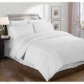 dp white com piece king chic chezmoi set sets amazon collection comforter ruched