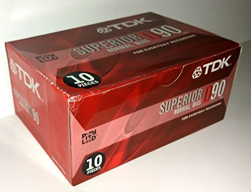TDK Superior D90 Normal Bias For Everyday Recording Play It Loud - Box of 10 TDK Electronics Corporation D-90SX-T