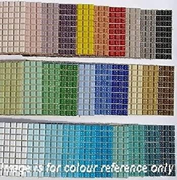 540 Pack Glass Mosaic Tiles 1x1cm Venetian Glass tiles 30 Colours