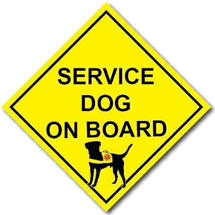 Very Amazon.com: Service Dog on Board Decal - REFLECTIVE: Automotive FC59